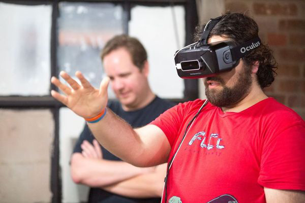 Man using a VR headset